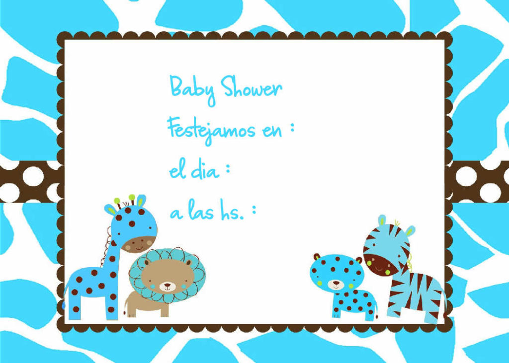 baby shower invitaciones para imprimir