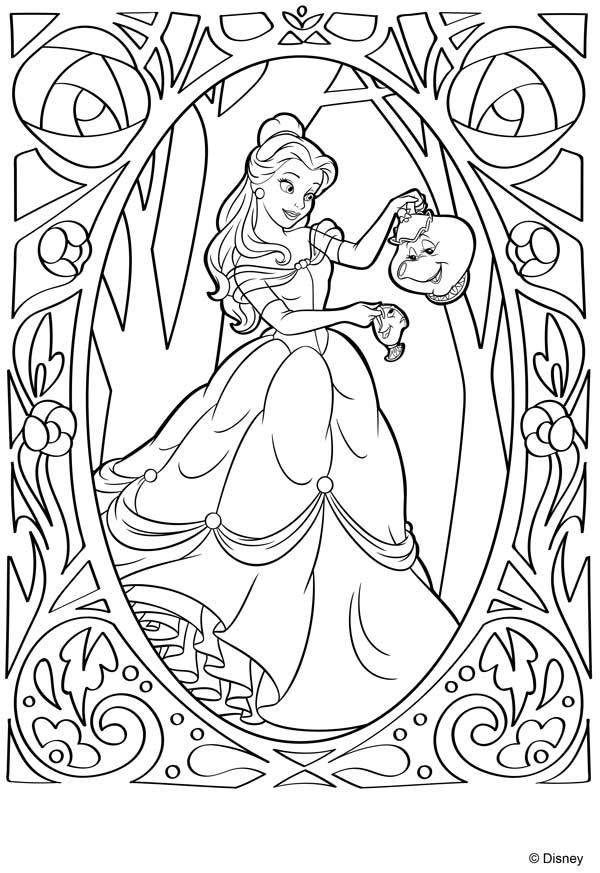 La Bella y la Bestia dibujos para colorear   Bebeazul.top