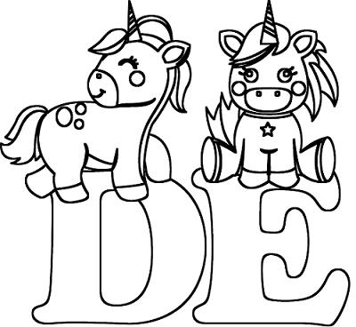 Abecedario De Unicornios Para Colorear Bebeazultop