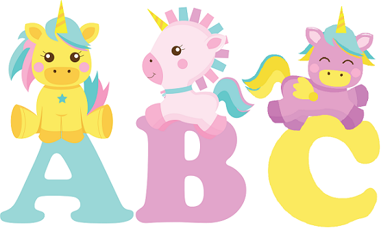 Letras Con Unicornios Para Imprimir Bebeazul Top