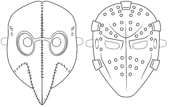 13 Mascaras De Halloween Para Colorear Bebeazul Top