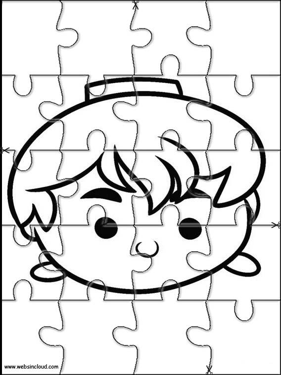 Puzzles de Tsum Tsum para imprimir y colorear | Bebeazul.top
