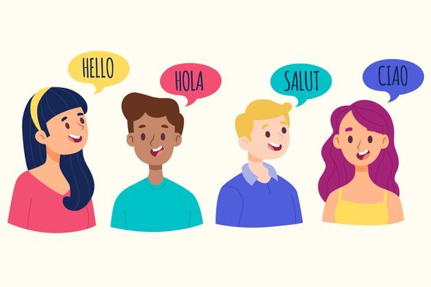 jóvenes hablando varios idiomas