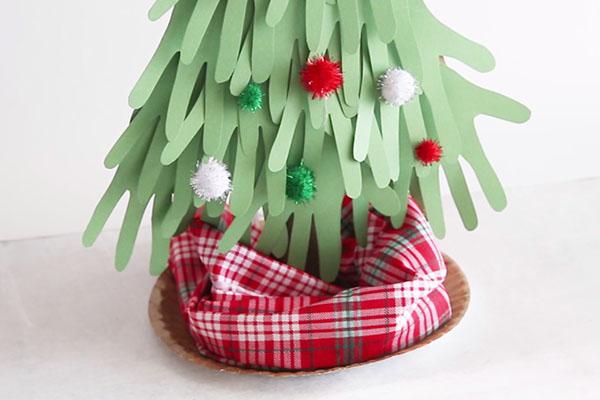 Diy árbol navidad cartulina