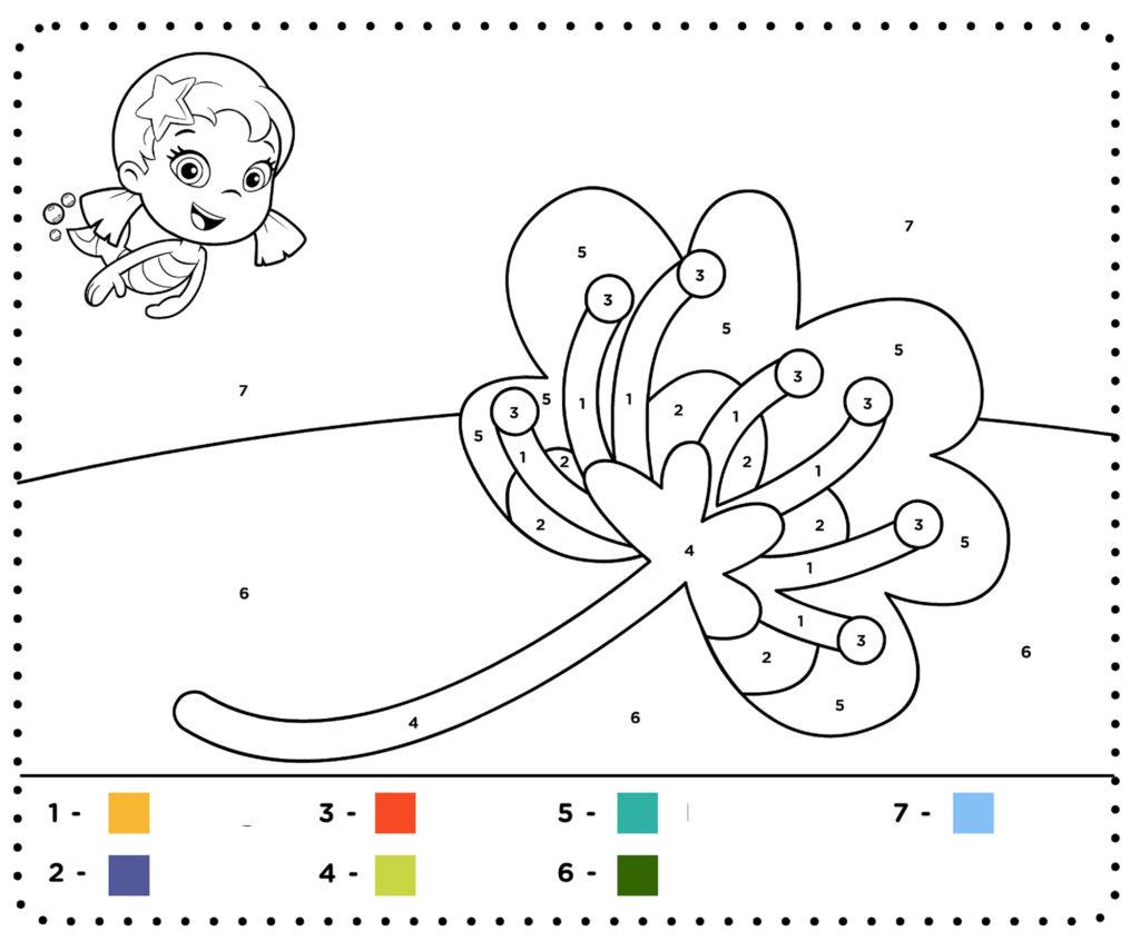 Ficha 10 para pintar con números