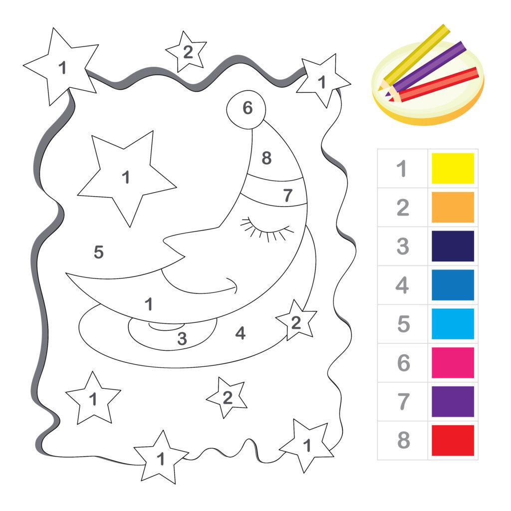 Ficha 12 para pintar con números