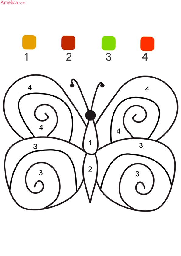 Ficha 1 para pintar con números