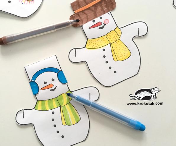 Foto tutorial de guirnaldas de muñecos de nieve para Navidad /2
