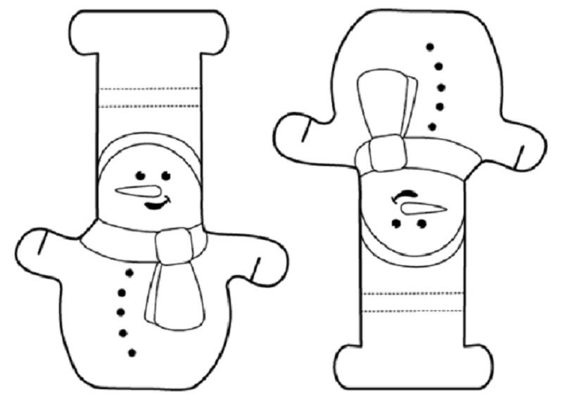 Foto tutorial de guirnaldas de muñecos de nieve para Navidad /3