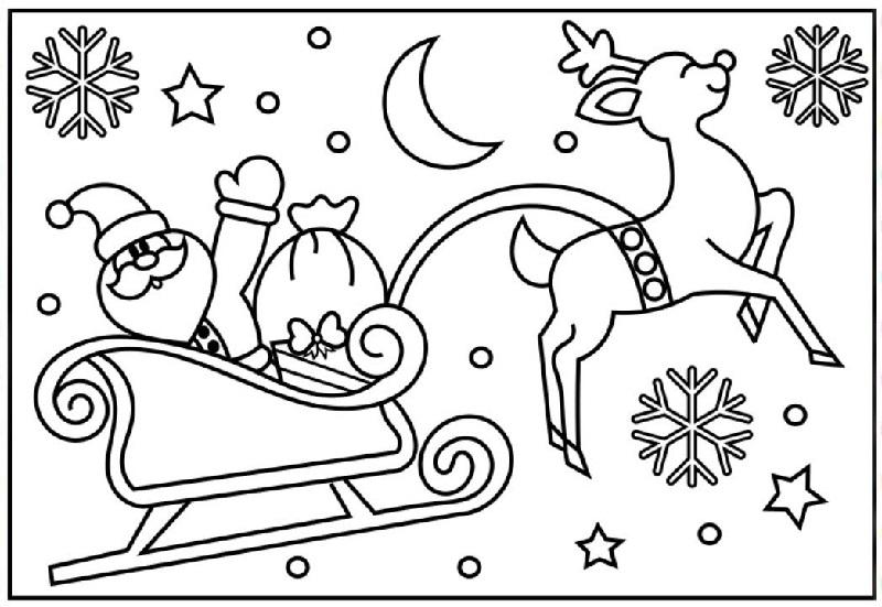 Dibujo 2 para colorear de Papá Noel