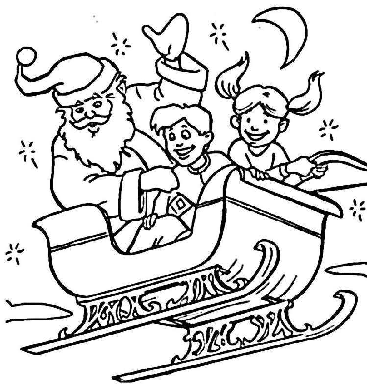 Dibujo 14 para colorear de Papá Noel