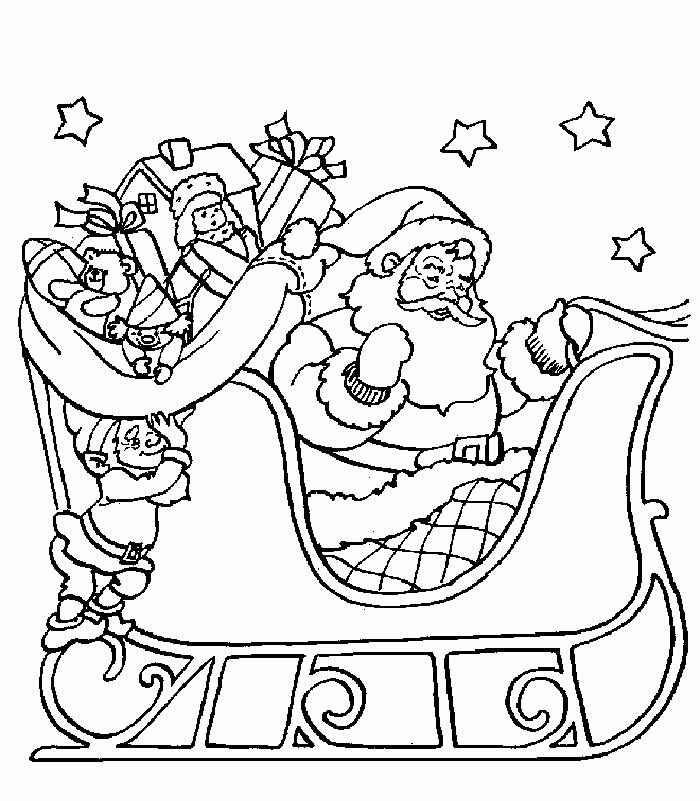 Dibujo 7 para colorear de Papá Noel