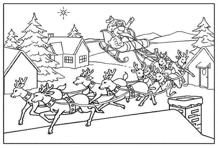 Dibujo 11 para colorear de Papá Noel