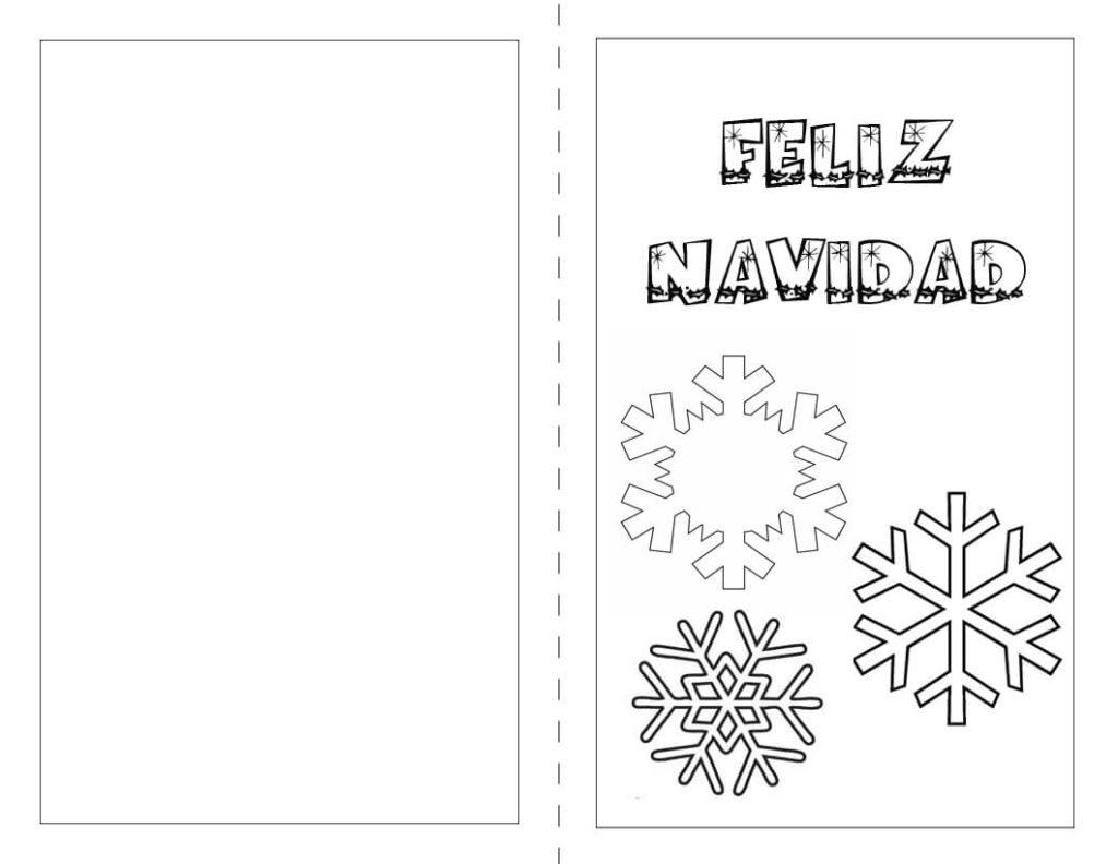 Tarjeta de Navidad para colorear