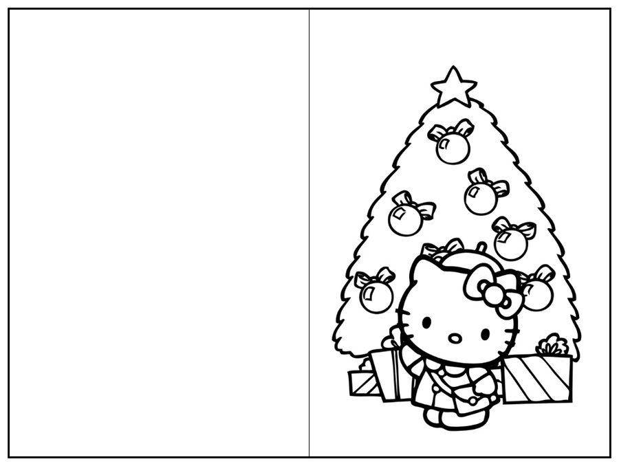 Tarjetas de Navidad para colorear con motivos navideños /1