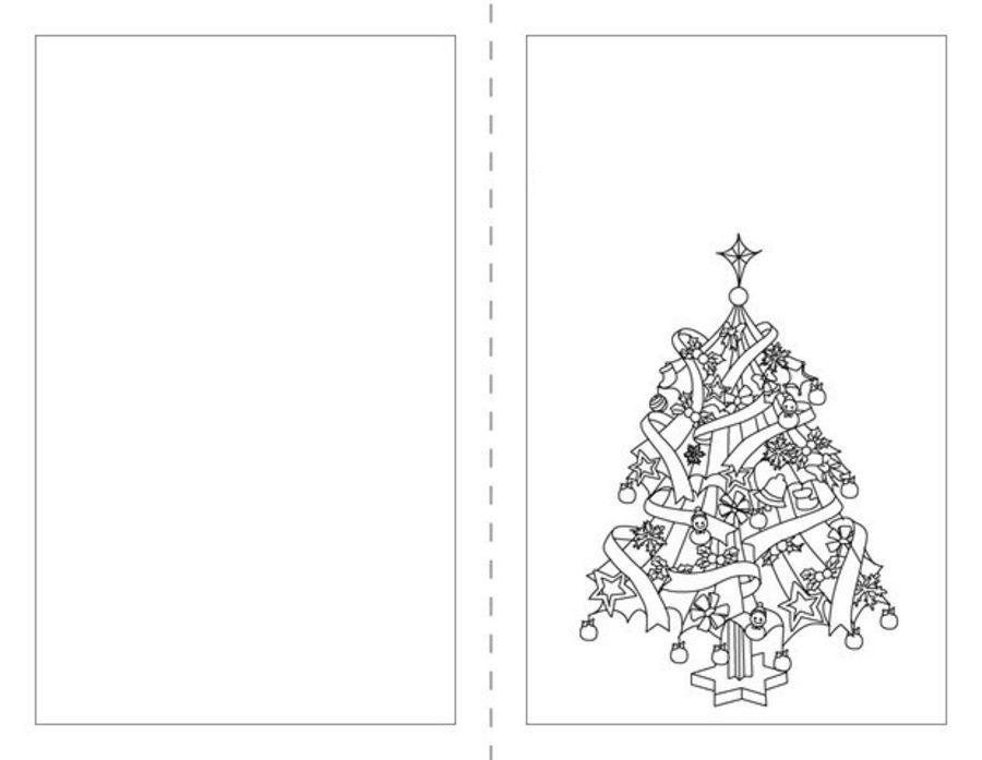 Tarjetas de Navidad para colorear con motivos navideños /4