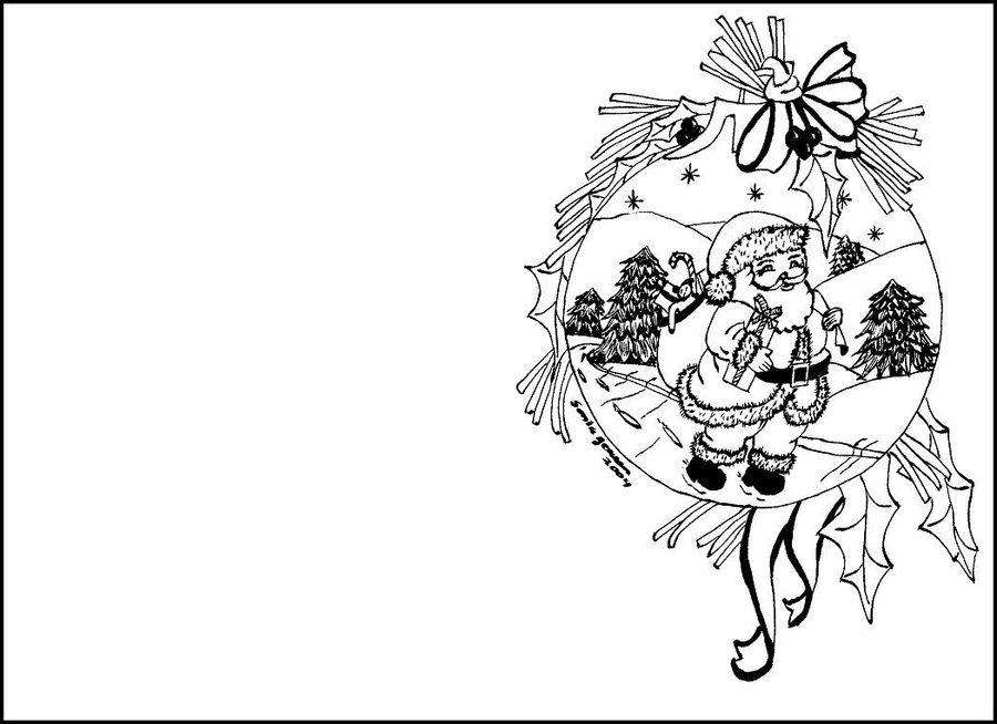 Tarjetas de Navidad para colorear con motivos navideños /7