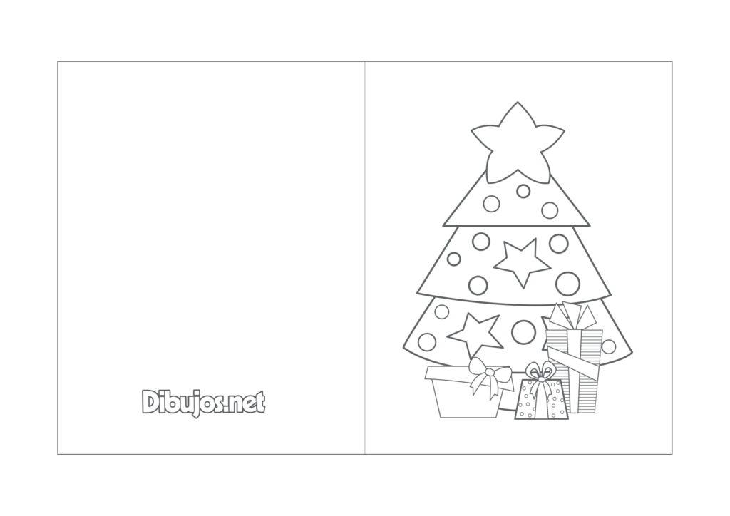 Tarjetas de Navidad para colorear con motivos navideños /8