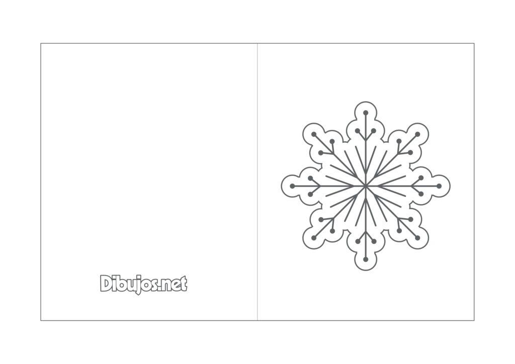 Tarjetas de Navidad para colorear con motivos navideños /9