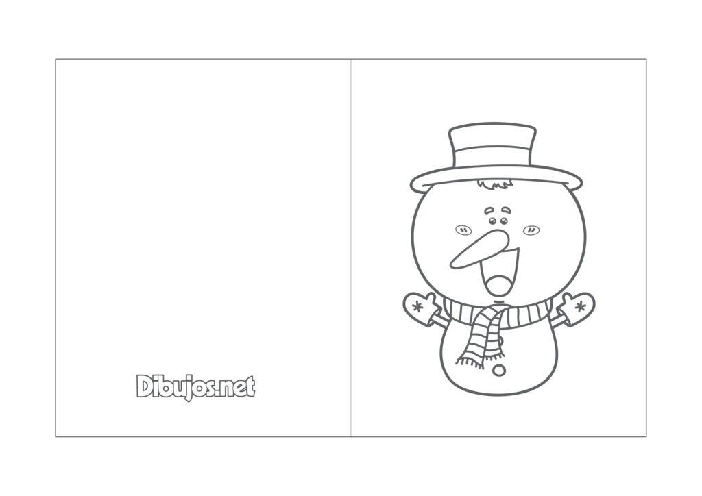 Tarjetas de Navidad para colorear con motivos navideños /10