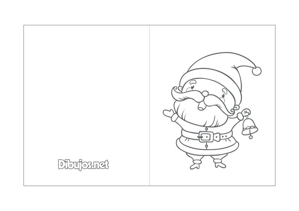 Tarjetas de Navidad para colorear con motivos navideños /12