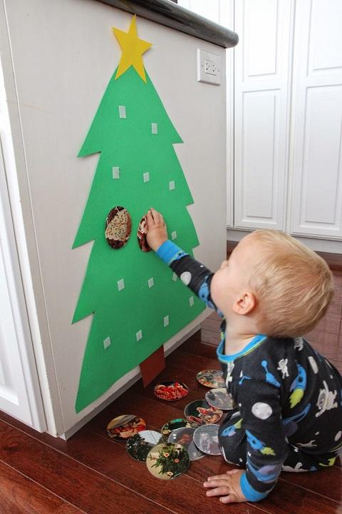 árbol de Navidad para fotos diy