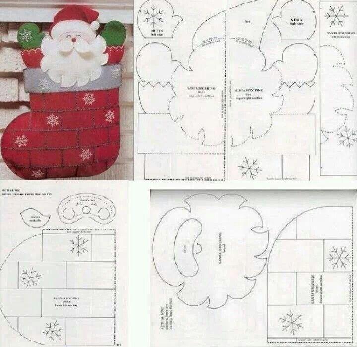 patrones adornos navidad en fieltro