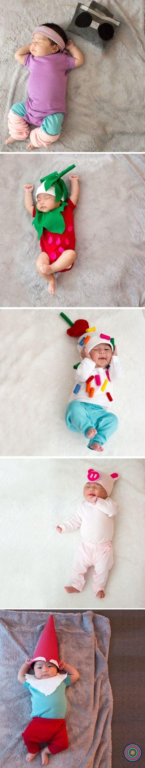 varios disfraces para bebés pequeñitos