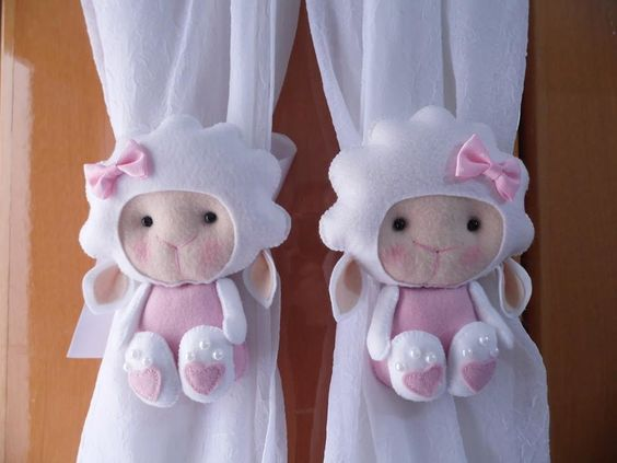 sujeta cortinas para bebés