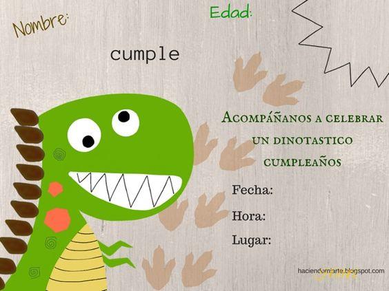 Invitaciones de Cumpleaños de Dinosaurios
