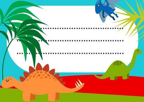 dinosaurios para cumpleaños