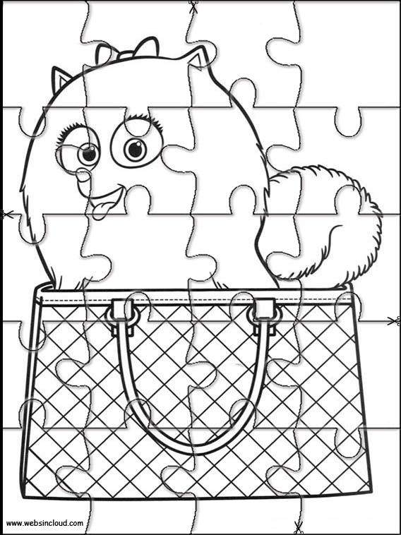Puzzle de la película Mascotas para colorear