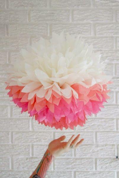pompones papel seda