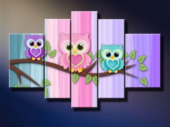 decoración para bebés con búhos