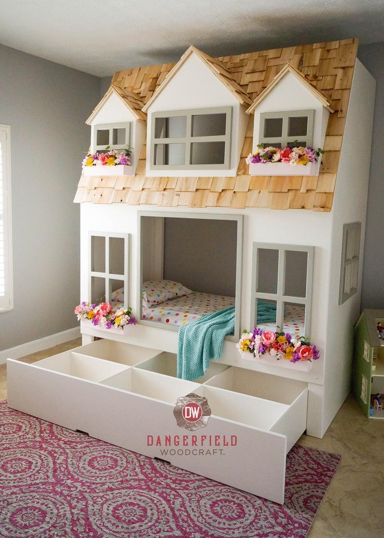 casa cama cara infantil