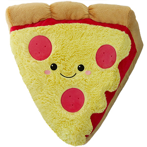 Para niños, cojín con forma de pizza