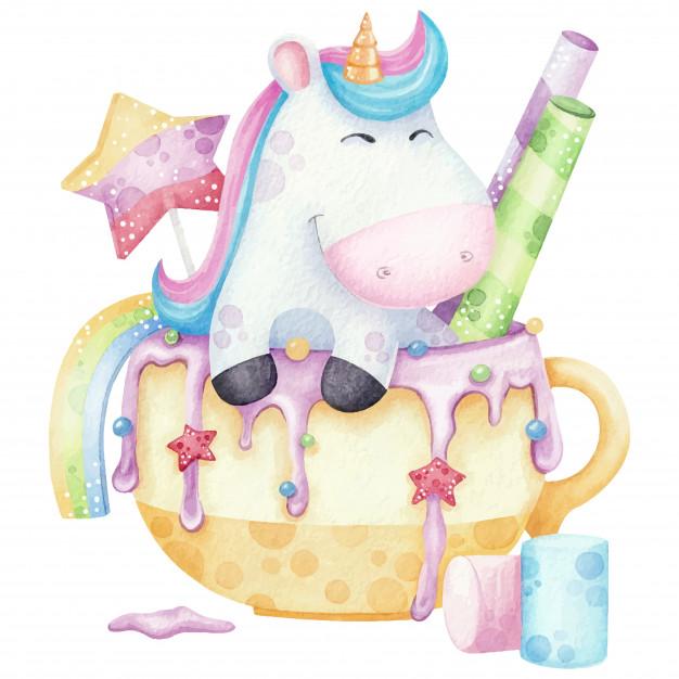 lámina de unicornio imprimir