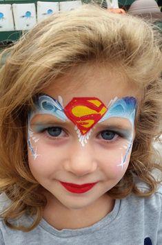 maquillaje de supergirl para niña