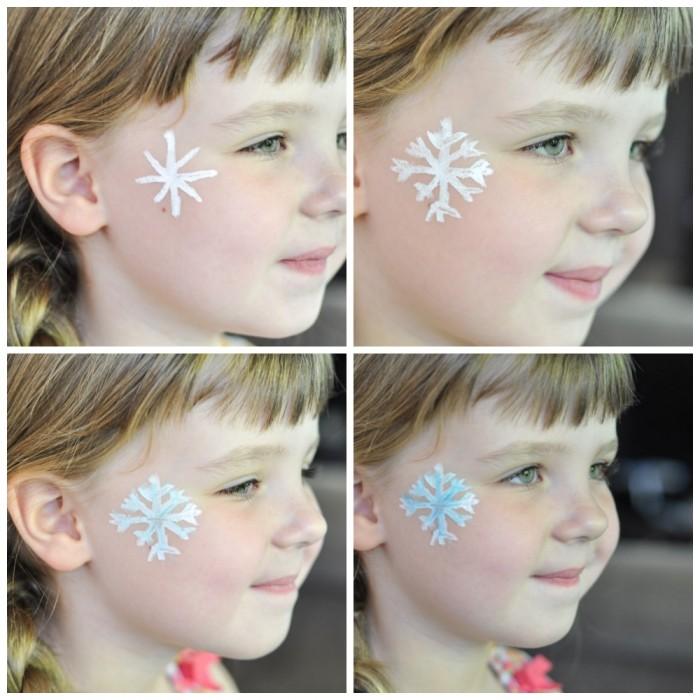 maquillaje infantil copo de nieve
