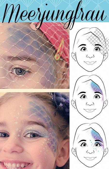 maquillaje para niña de sirenita
