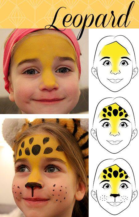 leopardo, maquillaje para niños