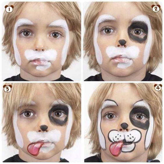 maquillaje de perrito para niños