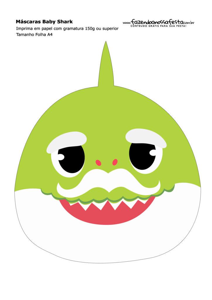 máscara tiburón imprimible
