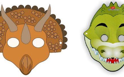 máscara infantil de dinosaurio