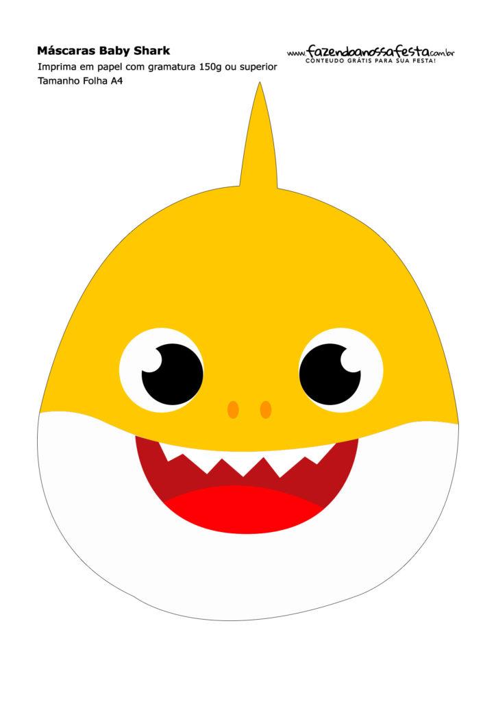 Máscaras para Carnaval de Tiburones molones