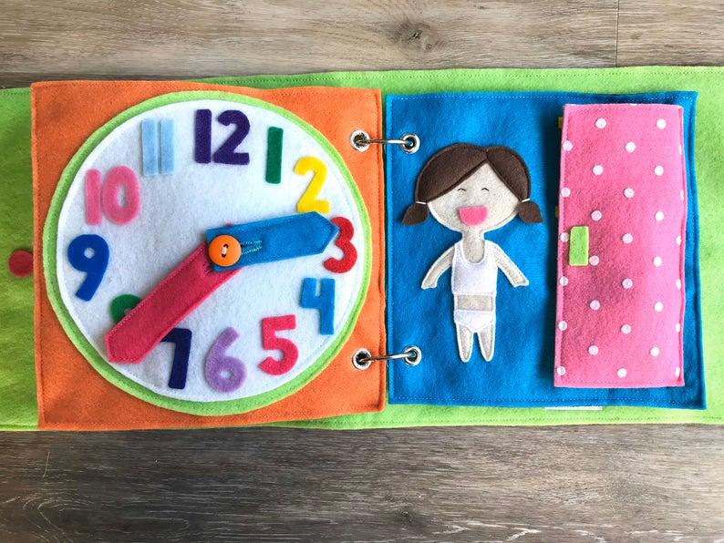 libro actividades en fieltro para bebés