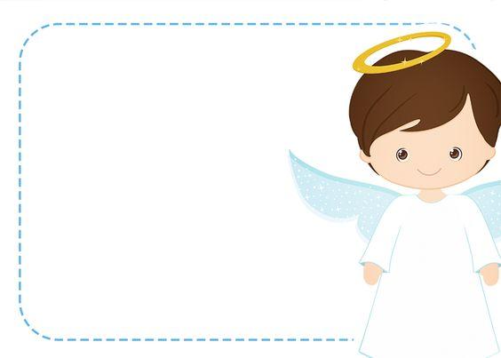 Invitaciones de angelitos para su Bautizo