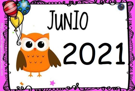 Calendario para imprimir y colorear - Junio 2021 ...